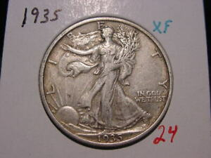 1938 WALKING LIBERTY HALF XF ATTRACTIVE BETTER DATE COIN