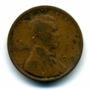 LINCOLN HEAD WHEAT CENT 1919 P COPPER CIRCULATED UNITED STATES 1 PENNY COIN1634