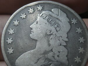 1830 1836 CAPPED BUST HALF DOLLAR  SMALL LETTERS