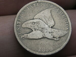 1858 FLYING EAGLE PENNY CENT  SMALL LETTERS VG DETAILS