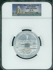 Click now to see the BUY IT NOW Price! 2011 P GETTYSBURG AMERICA BEAUTIFUL ATB 5 OZ SILVER NGC SP70 EARLY RELEASES ER