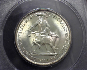 HS&C: 1938 NEW ROCHELLE COMMEMORATIVE PCGS 63   US COIN