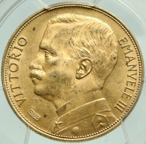 Click now to see the BUY IT NOW Price! 1912 ITALY VICTOR EMMANUEL III ANTIQUE GOLD 50 LIRE ITALIAN COIN PCGS I84931