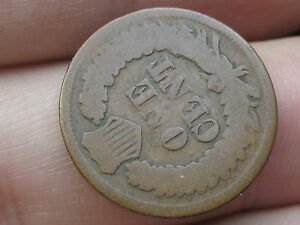 1869 INDIAN HEAD CENT PENNY ROTATED REVERSE MINT ERROR