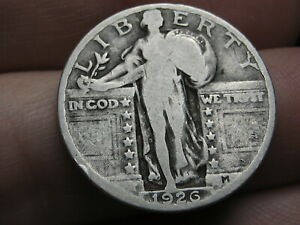 1926 P SILVER STANDING LIBERTY QUARTER VG DETAILS