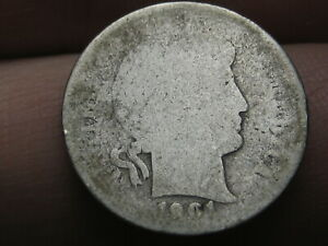 1901 O SILVER BARBER DIME  LOWBALL HEAVILY WORN PO1 CANDIDATE?