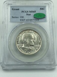Click now to see the BUY IT NOW Price! 1922 PCGS & CAC MS65 GRANT STAR COMMEMORATIVE SILVER HALF DOLLAR