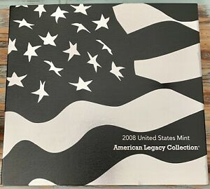 2008 US MINT AMERICAN LEGACY COLLECTION PROOF SET WITH BALD EAGLE SILVER DOLLAR