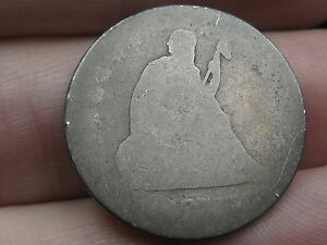 1876 SILVER SEATED LIBERTY QUARTER  LOWBALL HEAVILY WORN PO1 CANDIDATE?