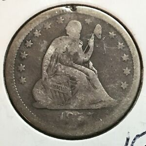 1857   LIBERTY SEATED QUARTER