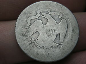 1877 S SILVER SEATED LIBERTY QUARTER  LOWBALL HEAVILY WORN