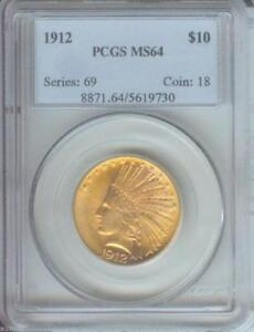 Click now to see the BUY IT NOW Price! 1912 $10 INDIAN EAGLE PCGS MS64 MS 64 BETTER DATE  OLDER HOLDER