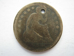 UNITED STATES 1856 SILVER HALF DIME POOR HOLED