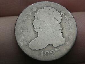 1827 CAPPED BUST SILVER DIME  JR 9 R4