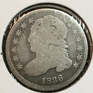 1836  GOOD  CAPPED BUST DIME  NICE COIN