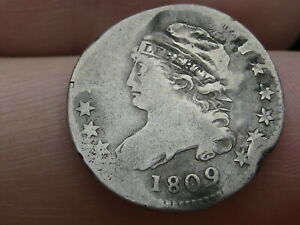 1809 90  SILVER CAPPED BUST DIME  KEY DATE