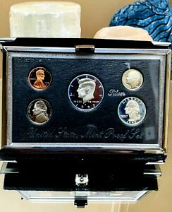 1995 S PREMIER SILVER PROOF SET US MINT WITH ORIGINAL COA & CUSTOM MINT MADE BOX