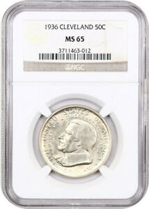 1936 CLEVELAND 50C NGC MS65   SILVER CLASSIC COMMEMORATIVE