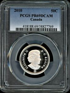 Click now to see the BUY IT NOW Price! CANADA 50C 2010 PCGS PR69DCAM   STERLING SILVER