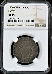 Click now to see the BUY IT NOW Price! CANADA 50C 1870 LCW NGC XF45
