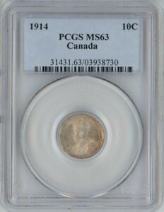 Click now to see the BUY IT NOW Price! CANADA 1914 SILVER 10 CENTS PCGS MS63
