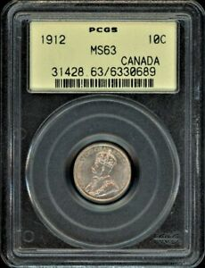 Click now to see the BUY IT NOW Price! CANADA 1912 10C PCGS MS63 OLD HOLDER