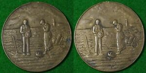 Click now to see the BUY IT NOW Price! IRELAND OR USA POTATO FAMINE MEDALLION  ?  35MM BRONZE UNDATED