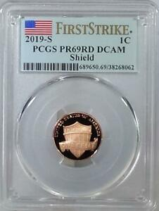 2019   S  LINCOLN CENT   PCGS PR69RD DCAM   SHIELD   FIRST STRIKE