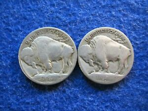 1913 & 1913 D TYPE I BUFFALO NICKELS   NOT NICE