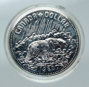 Click now to see the BUY IT NOW Price! 1980 CANADA ARCTIC POLAR BEAR UK QUEEN ELIZABETH II PROOF SILVER $ COIN I85661