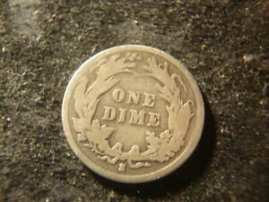 1896 S DATED  BARBER LIBERTY DIME DECENT COIN WAW 2