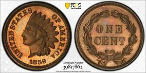 Click now to see the BUY IT NOW Price! 1859 PCGS & CAC PR65 INDIAN CENT