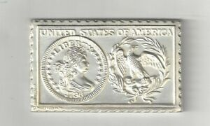 1796 U.S. LIBERTY BUST QUARTER TYPE 1 25 CENTS NUMISTAMP MEDAL COIN MORT REED