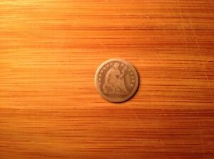 SILVER 1843 UNITED STATES SEATED LIBERTY HALF DIME H10C