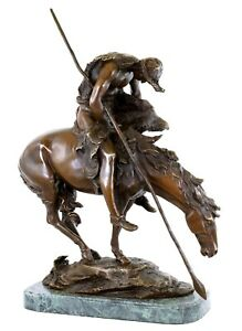 END OF THE TRAIL   BRONZE FIGURINE   JAMES EARLE FRASER SCULPTURE   SIGNED