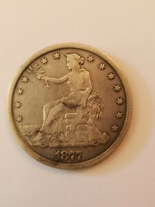 1877 S TRADE SILVER DOLLAR $1    EARLY TYPE COIN