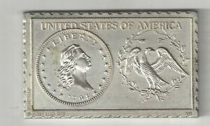 1794 U.S. FLOWING HAIR HALF DOLLAR 50 CENTS NUMISTAMP MEDAL COIN MORT REED 1975