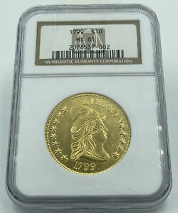 1799 CAPPED BUST $10 GOLD EAGLE NGC MS61