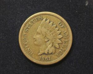HS&C: 1861 INDIAN HEAD PENNY/CENT F   US COIN