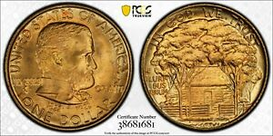 1922 PCGS MS66  GRANT WITH STAR GOLD DOLLAR GOLD SHIELD CERTIFIED
