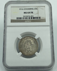 Click now to see the BUY IT NOW Price! 1916 STANDING LIBERTY SILVER QUARTER 25C NGC MS64 FH