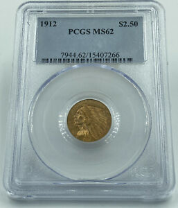 1912 P PCGS MS62 $2.5 GOLD INDIAN