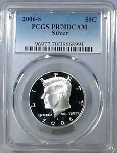 Click now to see the BUY IT NOW Price! 2006   S  SILVER KENNEDY HALF DOLLAR   PCGS PR70DCAM