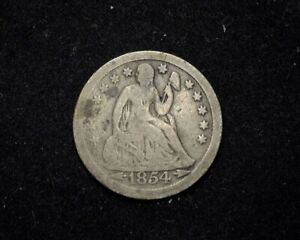 HS&C: 1854 O LIBERTY SEATED DIME VG ARROWS   US COIN