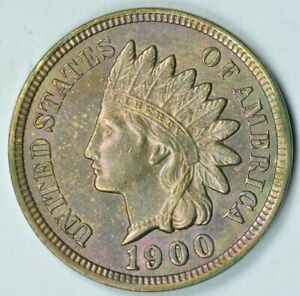 1900 1C INDIAN HEAD CENT PENNY MINT STATE UNCIRCULATED MS UNC