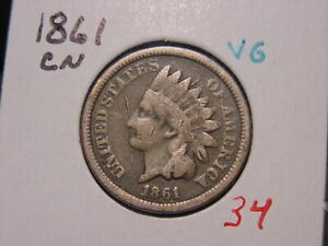 1861 CN INDIAN HEAD CENT VG BETTER DATE COIN COMBINED SHIPPING