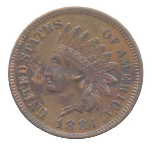 1884 INDIAN HEAD CENT CHOICE EXTRA FINE XF  CONDITION UNITED STATES COIN