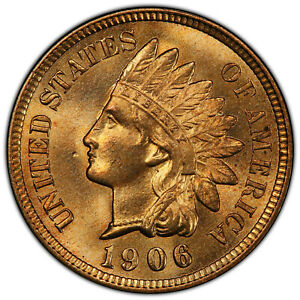 1906 1C PCGS MS 66 RED   PQ HIGH GRADE GEM INDIAN CENT