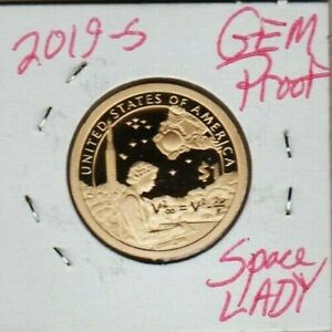 2019 S NATIVE AMERICAN DOLLAR PROOF GEM AUC STARS SPACE LADY MARY GOLDA ROSS STF
