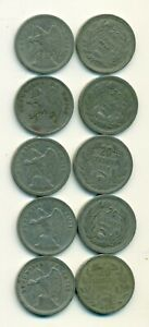 5 OLDER 20 CENTAVO COINS FROM CHILE  1924 1925 1932 1938 & 1940